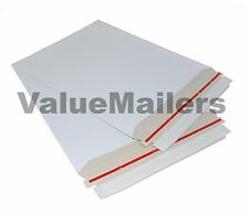"100 6 x 6 "" Rigid CD DVD Media Photo White Cardboard Envelope Mailers Stay Flat"