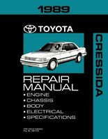 1989 Toyota Cressida Shop Service Repair Manual Book Engine Drivetrain Wiring
