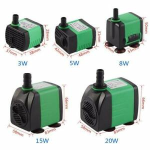 Submersible Water Pump For Aquarium Fish Tank 3W-20W 220-240V Energy Saving Z9D0