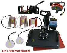 8 in1 Heat Press Machine Digital T-Shirt Mug Hat Plate Transfer Sublimation HOT