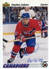 STEPHAN LEBEAU CANADIENS AUTOGRAPH AUTO 91-92 UPPER DECK #261 *30273