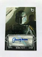 Star Wars RotJ Black and White Color Variation Auto Jeremy Bulloch as Boba Fett