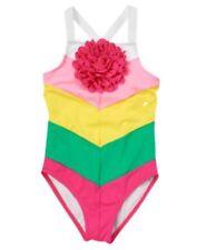 NWT Gymboree Girls Swim Shop Flower One Piece Swimsuit Size 4 & 5