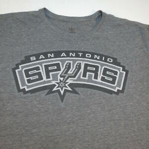 ADIDAS SAN ANTONIO SPURS BASKETBALL NBA TEE T SHIRT Mens XL Gray Tri Blend