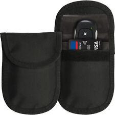2pc Car Key Signal Blocker Pouch Keyless Entry Faraday Bag Key Fobs Anti-Theft