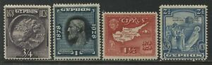 Cyprus KGV 1928 values to 2 1/2 piastres mint o.g. hinged