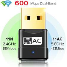 600Mbps USB Wireless WLAN Adapter Mini WiFi Dongle Dual band Fr PC Desktop TVBOX