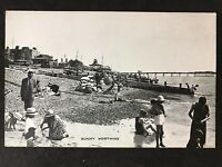 RP Vintage Postcard - Sussex #A38 - Sunny Worthing - Beach - Dennis & Sons