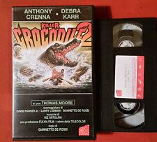 Killer Crocodile 2 (1990) G. De Rossi - VHS AVOFILM RARISSIMO