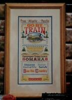 Cross Stitch TRAIN SAMPLER From The Atlantic To The Pacific PATTERN