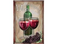 Bottled Poetry Wine Decorative House Flag