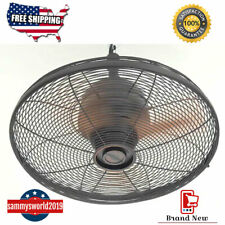 Ceiling Fan Oil Rubbed Bronze Indoor Outdoor 3 Blade Greenhouse Patio Porch Cool