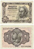 Banknote  Spain - One Peseta 1951 P-139 Don Quijote, Uncirculated Pick# 139