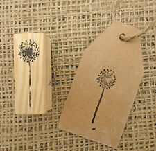 East of India Snowflake Rubber Stamp DIY Christmas Tags