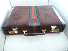 attaché case - hommre - façon GUCCI - cuir  marron  - occasion en etat normal