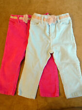 Genuine Kids-Oshkosh Size 18 months Girl lot of 2 corderoy pants 1pink & 1blue