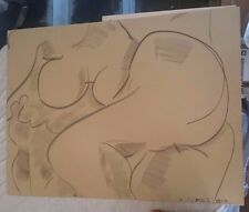 Frank Romero Nude Female Drawing study Signed Listed Artist ORIGINAL!