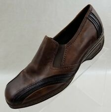Medicus Luftpolster Loafer Wedge Square Toe Brown Leather Slip On Shoes Size 7.5