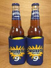 Twisted Tea RACING 9 Hard Iced Tea Koozie Can Bottle Cooler  2 Pk - New & F/Ship