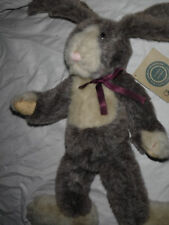 "J.B. Bean Charlotte Hare Bean Rabbit Plush Heavy 15"" Toy Stuffed Animal"
