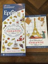 Walt Disney World Epcot International Food And Wine Festival Map Set 2017
