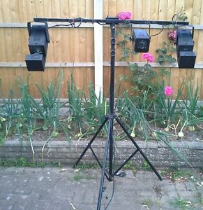 vintage disco lights chauvet minimoon with large tripod stand +control box.