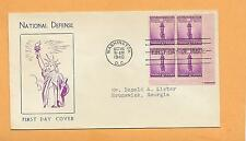 NATIONAL DEFENSE OCT 16,1940 WASHINGTON DC   3 CENT BLOCK   ^