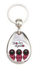 Squid game carte de visite Affiche Cinéma Série Culte Porte clé en métal
