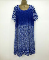 NEW Dress Lagenlook Shift Style Floaty Blue Ombre Womens Plus Size UK  20