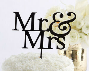 Mr. & Mrs. wedding cake topper bride groom wedding cake top Bridal Shower Topper