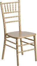Gold Wood Chiavari Chair - Commercial Quality Stackable Wood Chiavari Chair