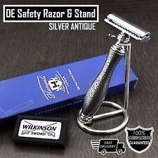 Classic DE Safety Razor & Stand > Retro Wet Shaving for Men > Gent's Grooming