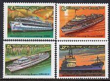 5088 - Russia 1981 - River Boats - Ships - Mnh Set