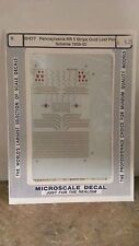 Micro Scale N Scale 60-677 Pennsylvania RR 5 Stripe Gold Leaf Paint Scheme 1939-