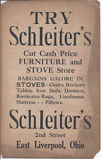 1910s SIGN EAST LIVERPOOL OH SCHLEITERS FURNITURE STOREFRONT & OTHER PAPER