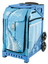 Zuca Bag Wonderland Insert & Blue Frame w/Flashing Wheels - Free Seat Cushion