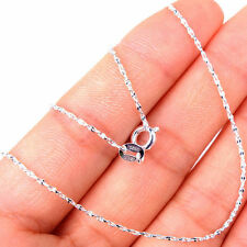 Vogue Ladies Wave 925 Sterling Silver Stamped Chain Necklace Jewelry H1070