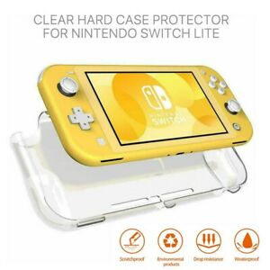 For Nintendo Switch Lite Clear Transparent Protective Hard PC Case Back Cover-