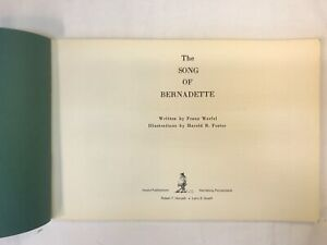 THE SONG OF BERNADETTE,  HAL FOSTER COMIC ART,  SOFT COVER, 1970, SCARCE