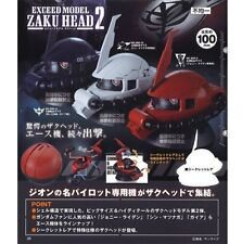 Bandai Gashapon Gundam Exceed Model Zaku Head Collection 2 Set of 3 in stock!