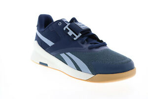 Reebok Lifter PR II FU9442 Mens Blue Canvas Athletic Weightlifting Shoes