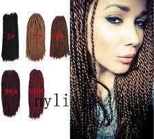 "Set 90Pcs 3Bundles Synthetic Hair Twist Crochet 30pcs/Bundle African Braid 18"""
