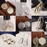 New Fashion Women Crystal Ear Stud Dangle Hoops Lady Hook Earrings Jewelry Gifts