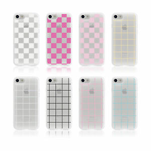AESTHETIC CHECKERED SQUARES BLACK AND WHITE IPHONE & SAMSUNG SOFT PHONE CASE