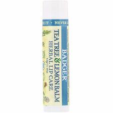 Badger Company, Organic, Tea Tree & Lemon Balm Herbal Lip Care, .15 oz (4.2 g)