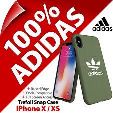 Adidas Originals Trifoglio Tela Custodia a Scatto Cover Slim Per Apple IPHONE X