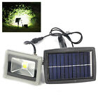 Outdoor 10W Solar Powered LED Mount Flood Light Home Garden Yard Lawn Spot Lamp