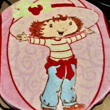 Strawberry Shortcake Vintage Blanket Pink Fleece Soft