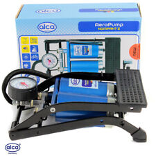 Double cylinder foot air pump German quality 7 BAR 100PSI car bike tyre inflator