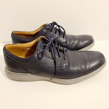 Cole Haan Grand OS Blue Leather Plain Toe Casual Oxford Sneaker Shoes Mens 8.5 M